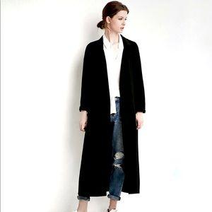 MissGuided Black Maxi Duster Coat